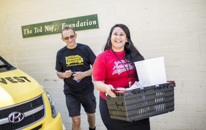 Photo of OzHarvest volunteers for Where does the food go