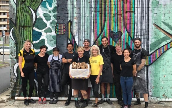 OzHarvest Gold Coast team with The Bread Social