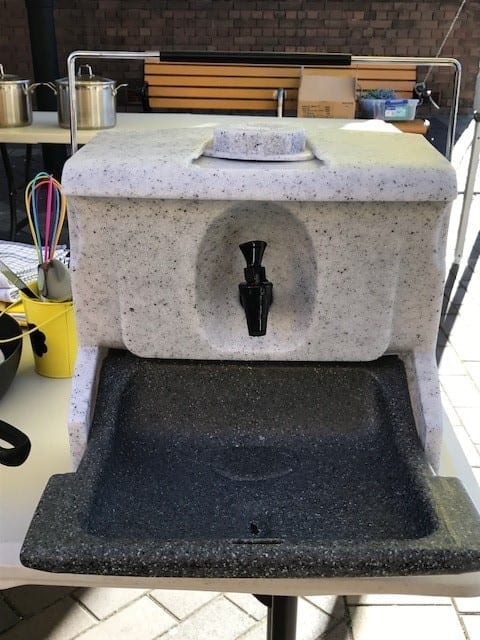 Hunter Water - donated handwashing stations